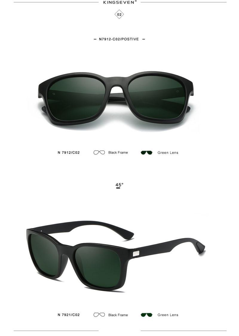 Green Matte Framed Sunglasses