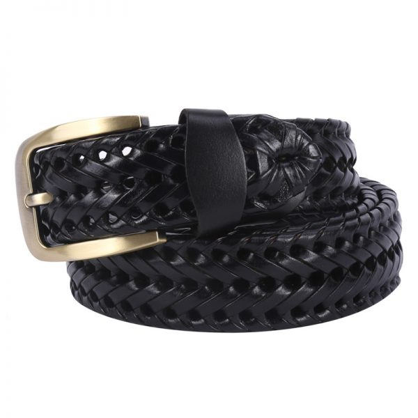 Leather Basket Weave Belts