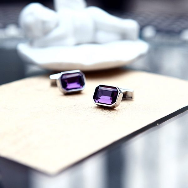 Purple Casual Cufflinks
