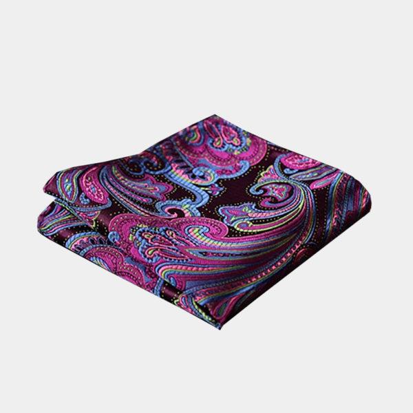 Purple Paisley Pocket-Square-Handkerchief from Gentlemansguru.com