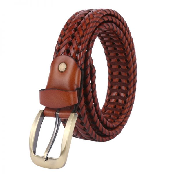 handmade Leather Basket Weave Belts