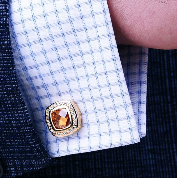 tiffany-cartier 18k Gold Cufflinks Button Shirt Cufflinks from Gentlemansguru.com