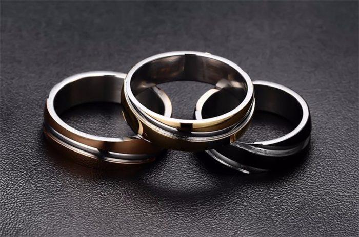 Men's Fashionable Steel Rings