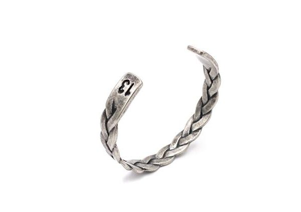 Old Retro Braided Steel Bangle