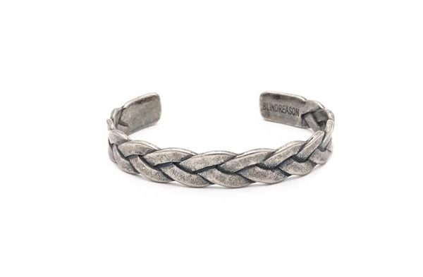 Stainles steel Retro Braided Steel Bangle