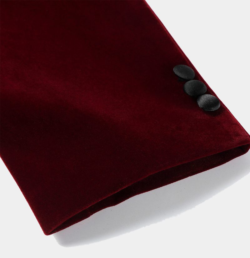 Burgundy Maroon Velvet Dinner Jacket from Gentlemansguru.com