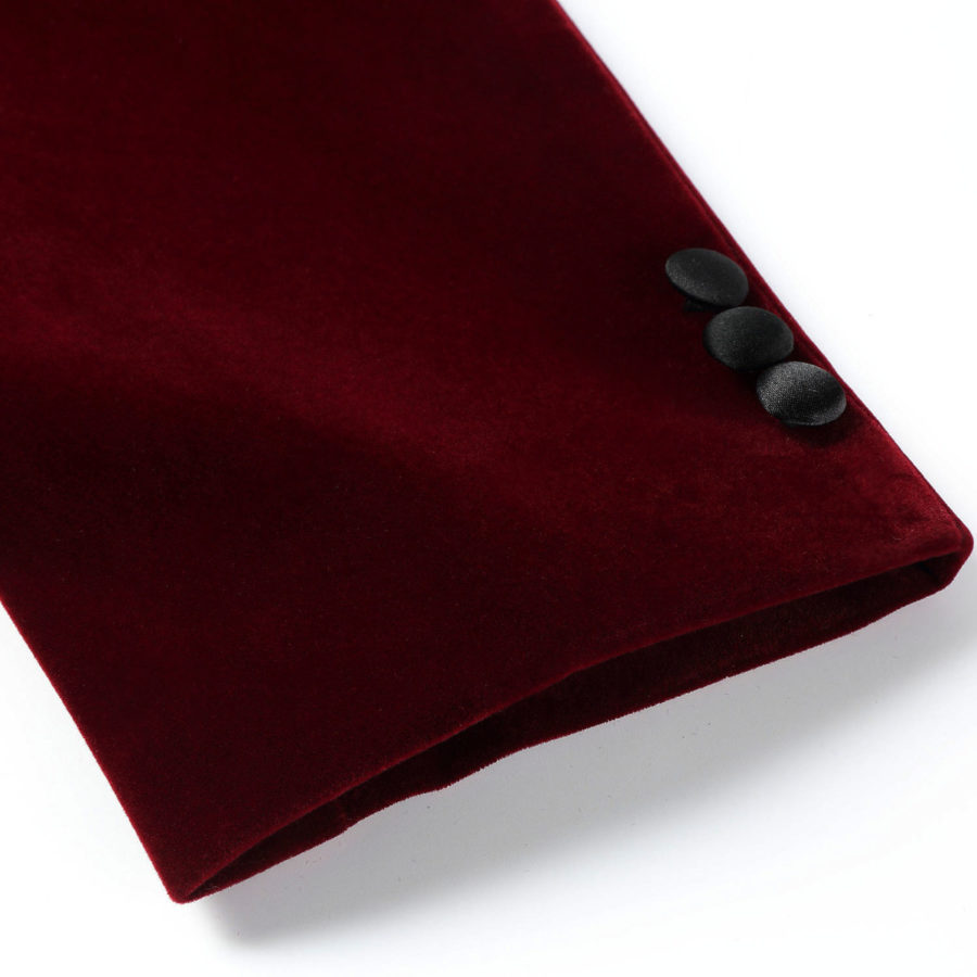Burgundy Tuxedo Jackets