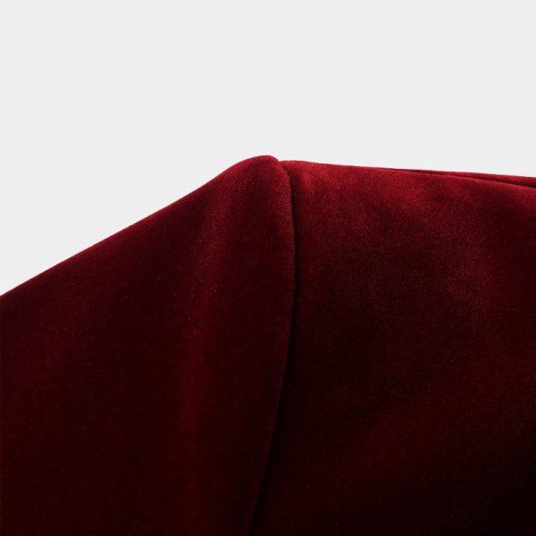 Burgundy Velvet Blazer With Shawl Collar from Gentlemansguru.com