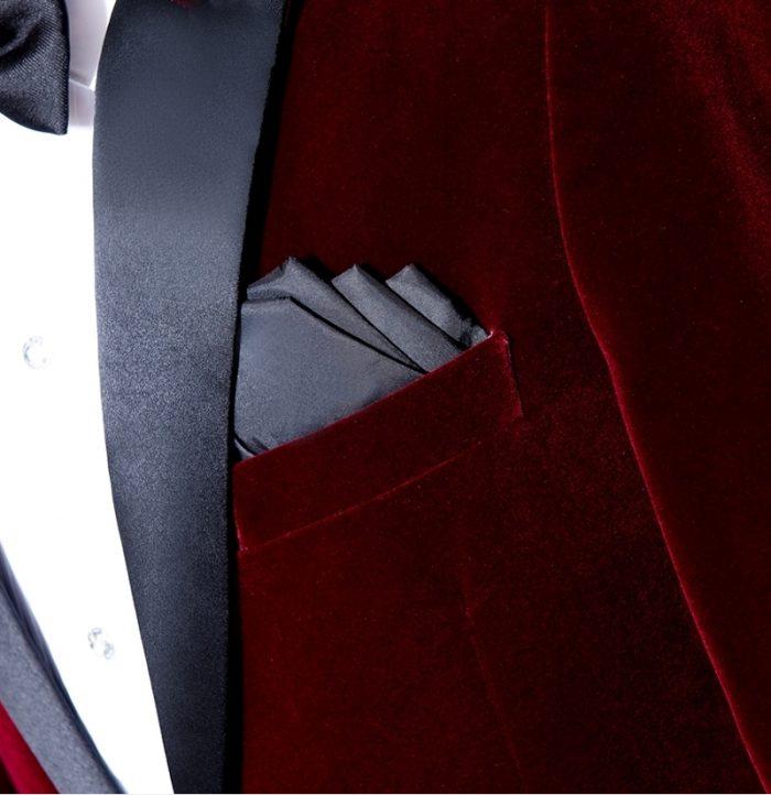 Burgundy Velvet Tux Jacket For Wedding Prom from Gentlemansguru.com
