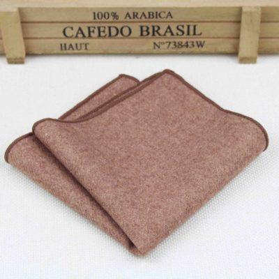 Khaki Vintage Wool Pocket Squares