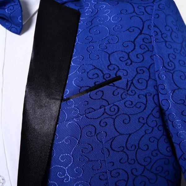 Mens Paisley Desing Jacquard Tuxedo Jacket