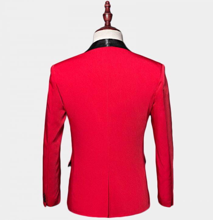 Mens Red Shawl Collar Tuxedo Jacket Wedding-Prom from Gentlemansguru.com