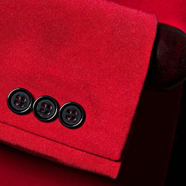 Mens Red Shawl Collar Tuxedo Jacket from Gentlemansguru.com