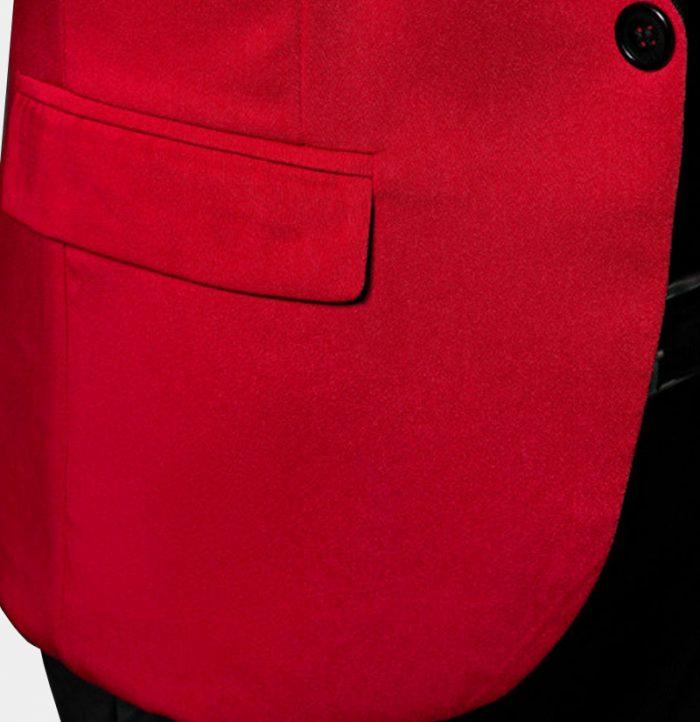 Mens Red Tuxedo Jacket All Black Tuxedo Blazer from Gentlemansguru.Com