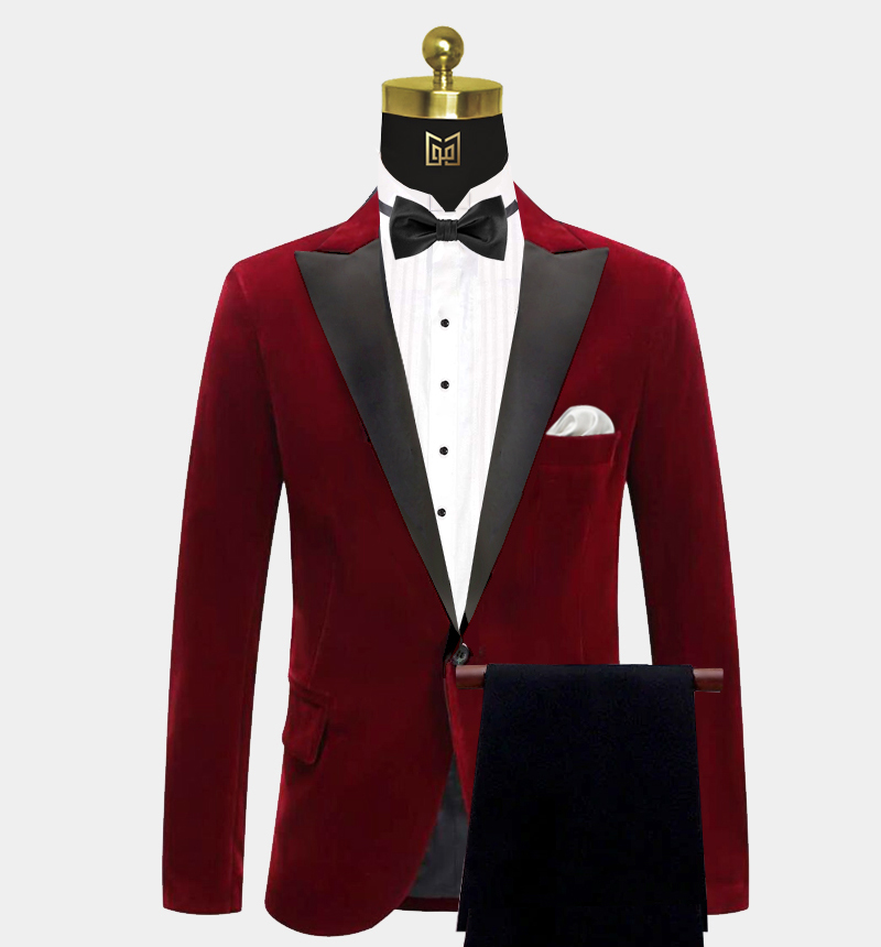 Peak-Lapel-Burgundy-Velvet-Tuxedo-Prom-Suit-from-Gentlemansguru.com
