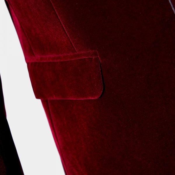 Red Velvet Tuxedo Jacket Mens Dinner Jacket from Gentlemansguru.com