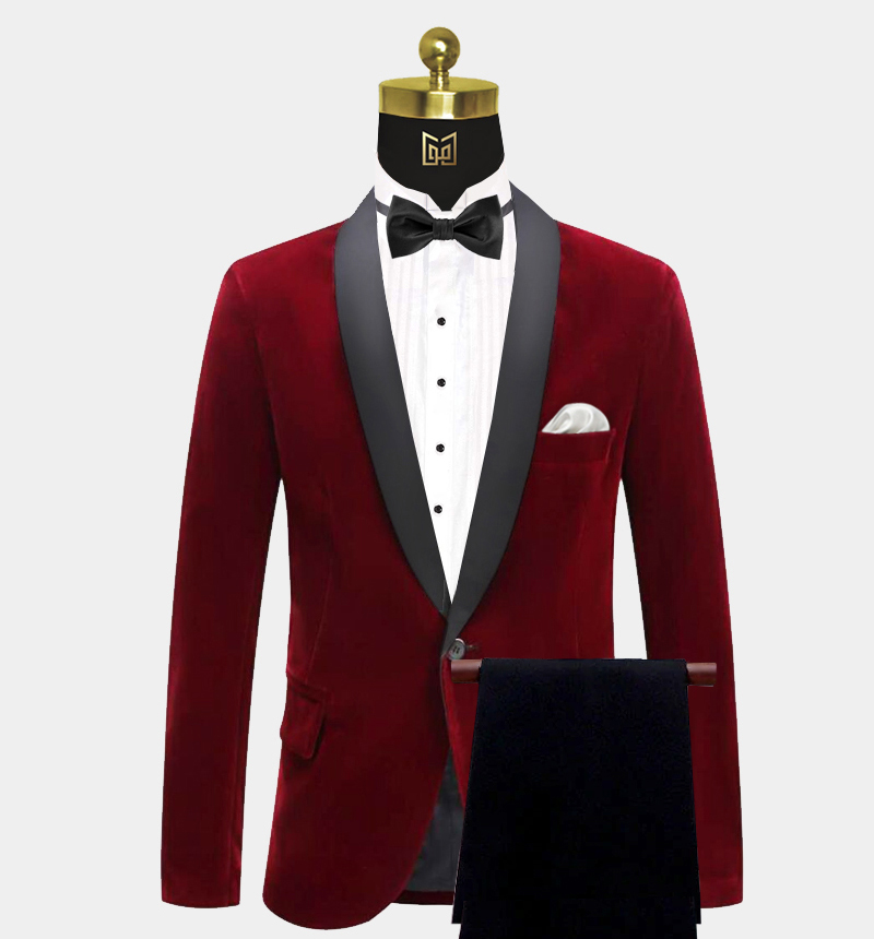 Shawl-Collar-Burgundy-Velvet-Tuxedo-Prom-Suit-from-Gentlemansguru.com