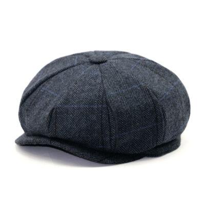 Blue Cotton Newsboy Cap