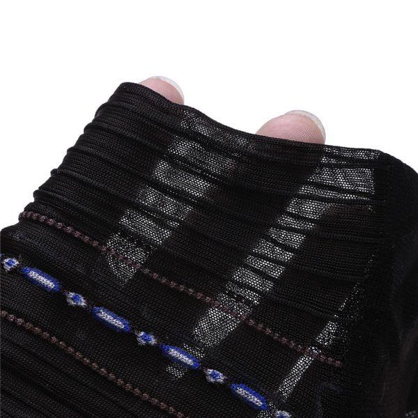 Men's Black Silk Dress Socks
