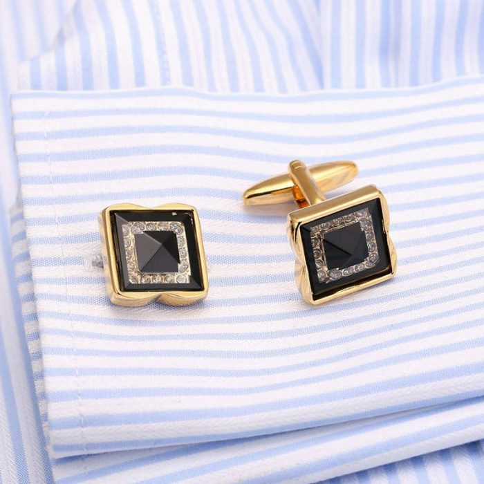 Black And Gold Cufflinks