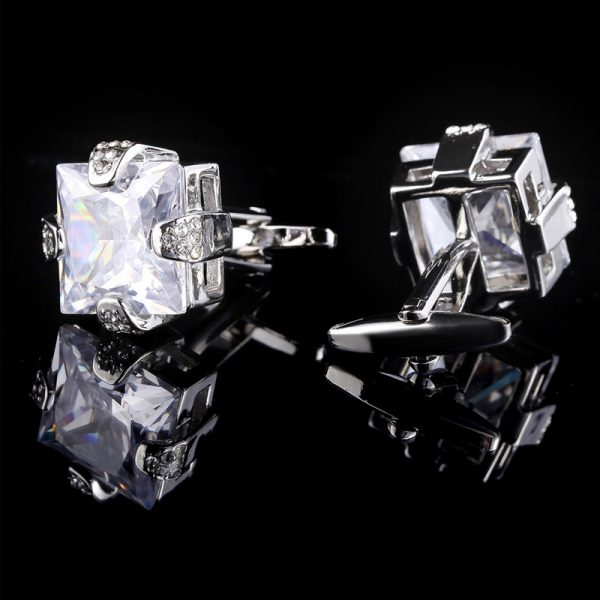 Crystal Cubic Zirconia Cufflinks For Men from GEntlemansguru.com