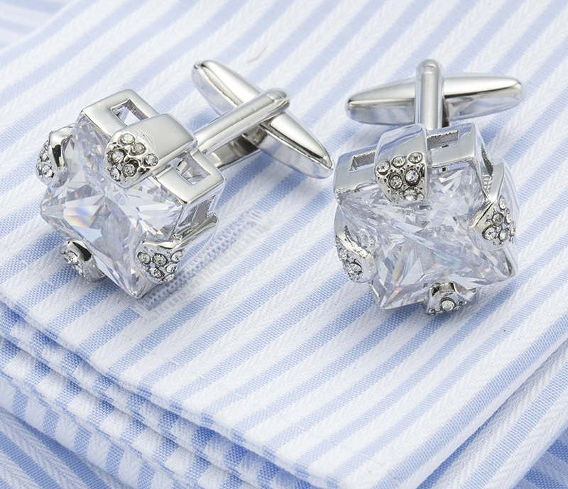 Crystal Wedding Cufflinks