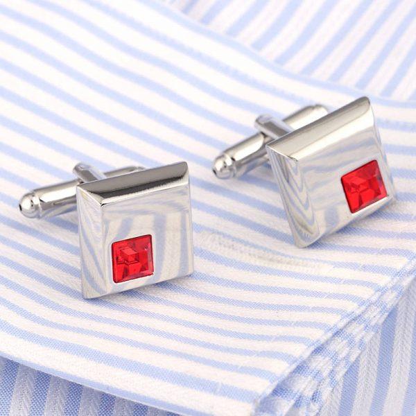 Red gemstone cufflinks