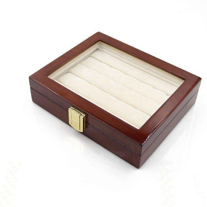 wooden cufflinks storage box