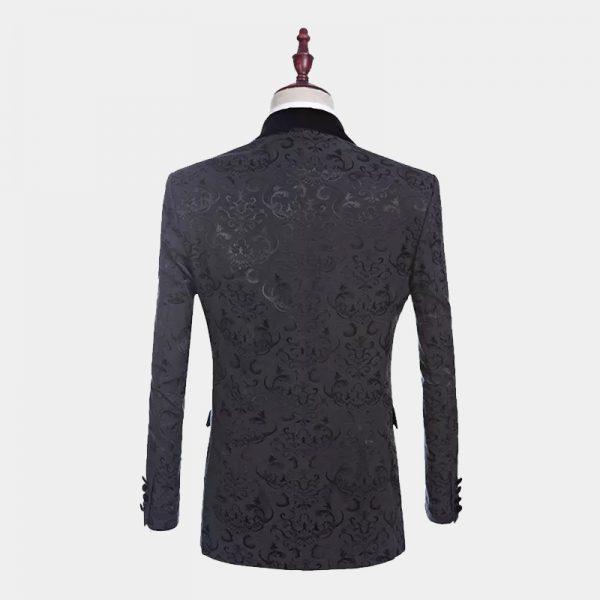 Jacquard Black Floral Tuxedo Jacket from Gentlemansguru.com