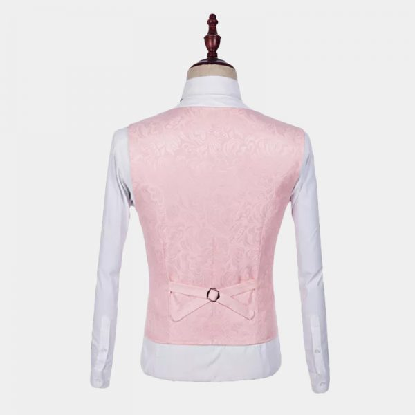 Light Pink Floral Tuxedo Vest from Gentlemansguru.com