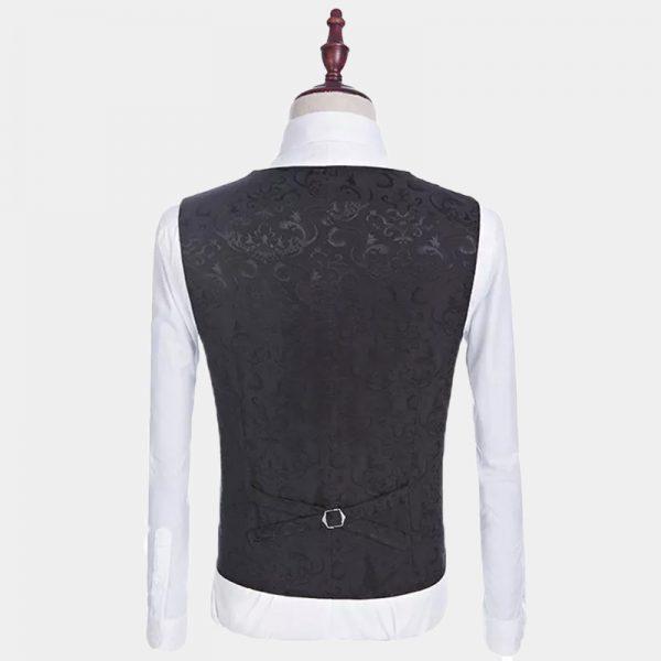 Men's Black Floral Tuxedo Vest from Gentlemansguru.com
