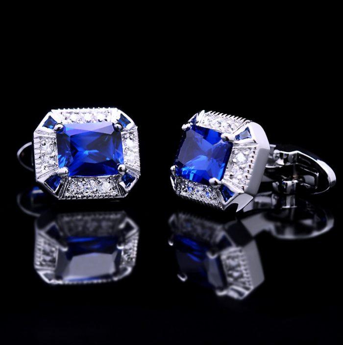 Mens Blue Sapphire Cufflinks For Sale from Gentlemansguru.com