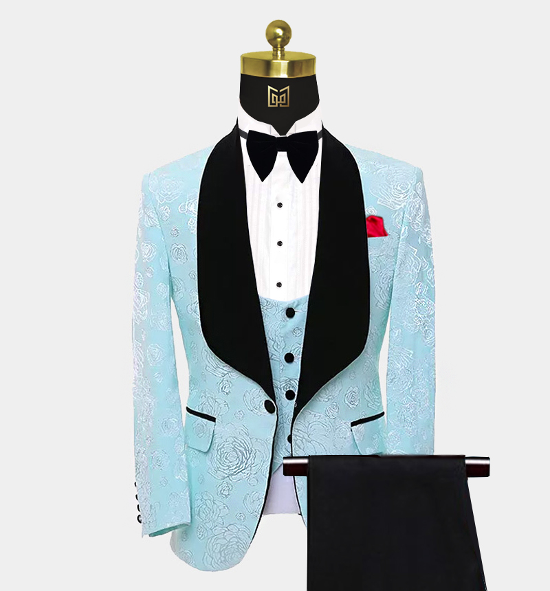 Mens-Floral-Turquoise-Tuxedo-Wedding-Prom-Suit-from-Gentlemansguru.com