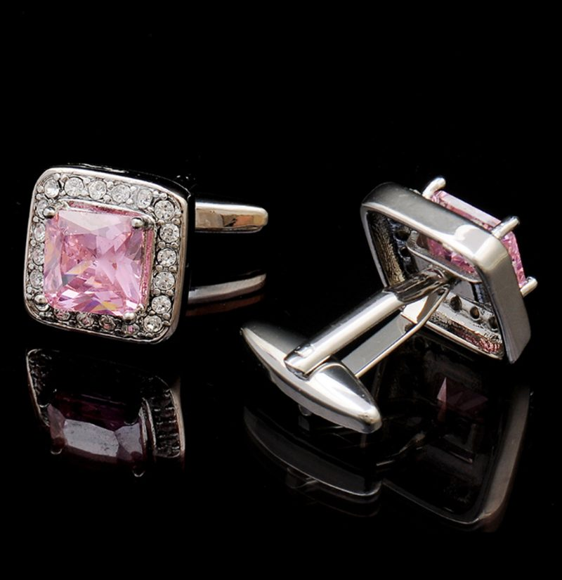 Mens-Luxury-Light-Pink-Cufflinks-Set-from-Gentlemansguru.com