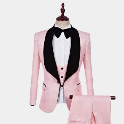 Men's Light Pink Tuxedo Suit from Gentlemansguru.com