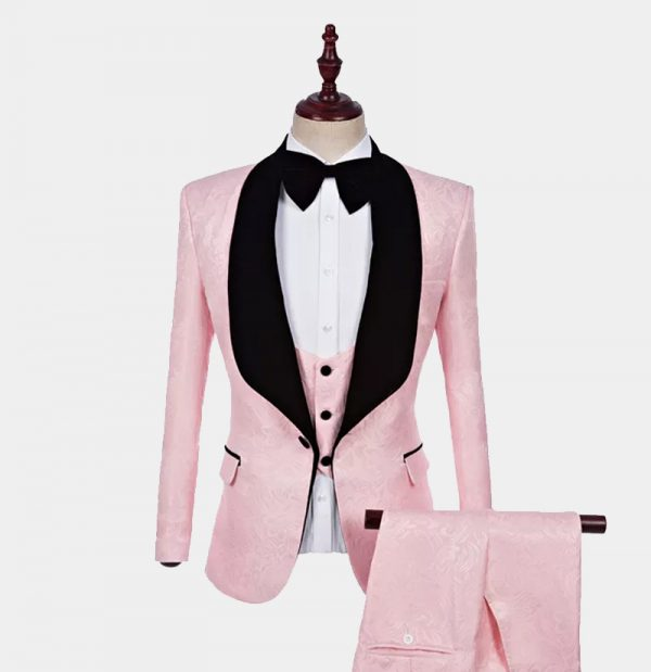 Men's Light Pink Tuxedo Suit from Gentlemansguru.com
