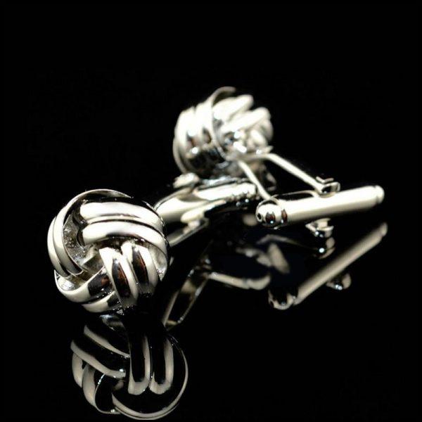 Mens Silver Knot Cufflinks Set Love Knot Cufflinks from Gentlemansguru.com