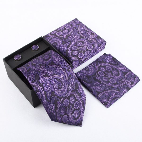 Purple Necktie Set