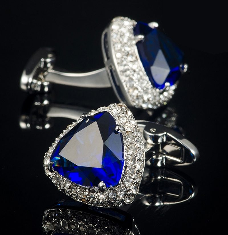 Royal-Blue-Zircon-Cufflinks-from-Gentlemansguru