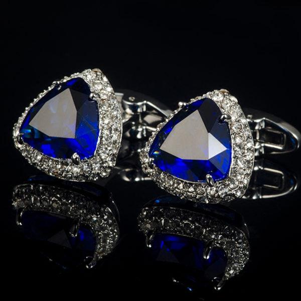 Sapphgire-Blue-Cufflinks-With-Zircon-Stone-from-Gentlemansguru