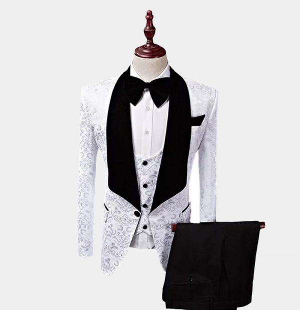 White Wedding Tuxedo 3 Piece from Gentlemansguru.com
