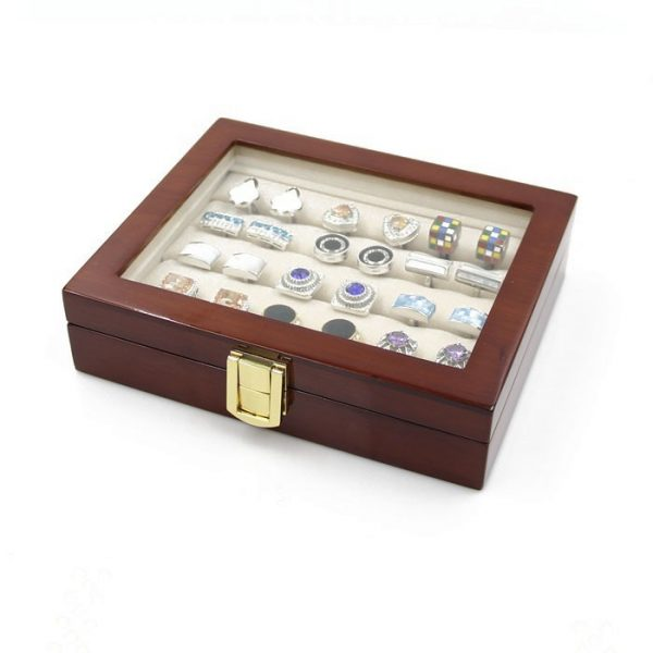 Wooden Cufflink Storage Box