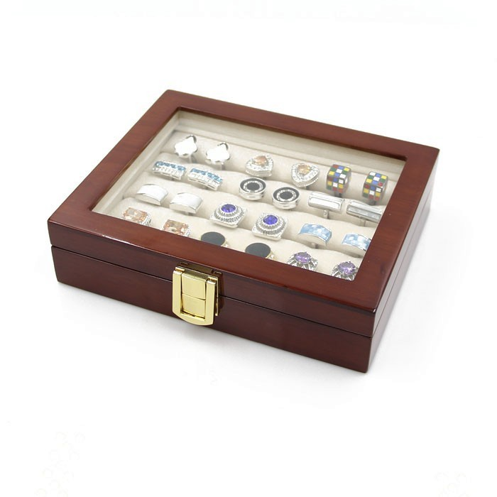 Wooden Cufflink Storage Box