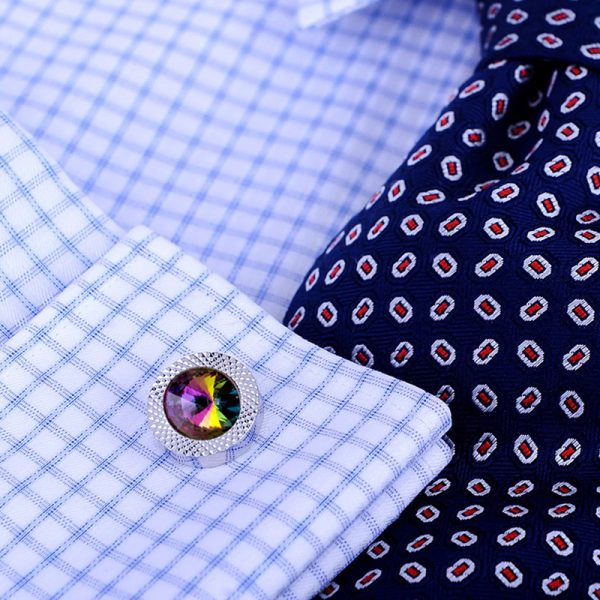paul-smith Multi Coloured Cufflinks Set With Swarovski Crystal from Gentlemansguru.com
