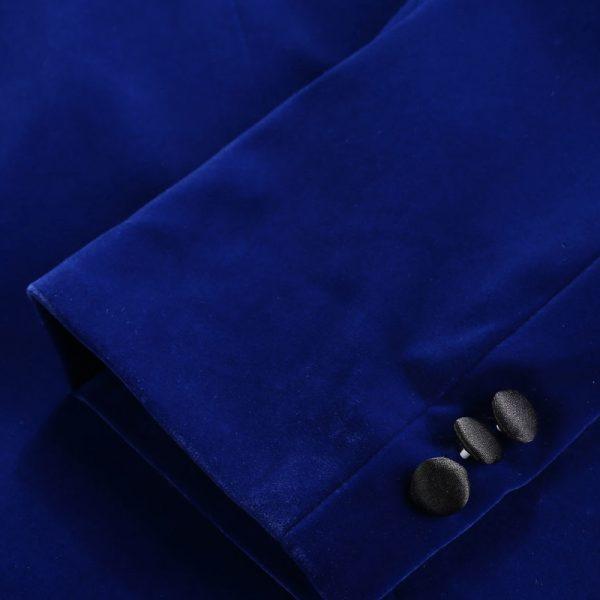 Mens Royal Blue Velvet Blazer Dinner Jacket Top Tuxedo For Prom-Wedding from Gentlemansguru.com