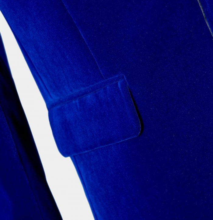 Royal Blue Velvet Tuxedo Dinner Jacket from Gentlemansguru.com