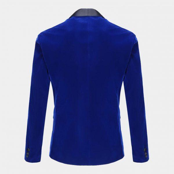 Royal Blue Velvet Tuxedo Jacket