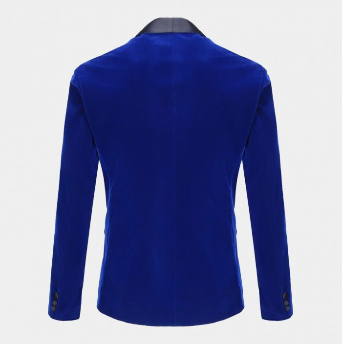 Royal Blue Velvet Tuxedo Jacket