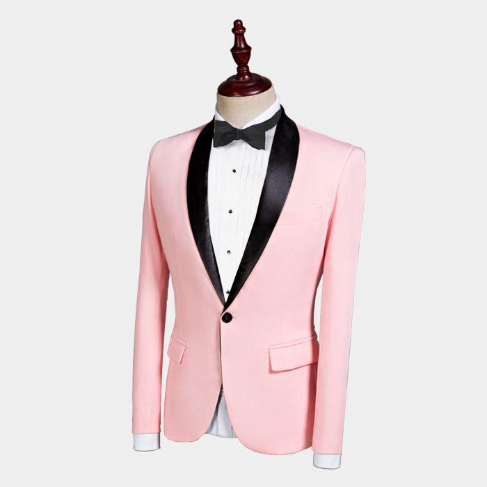 Baby Pink Tuxedo Jacket
