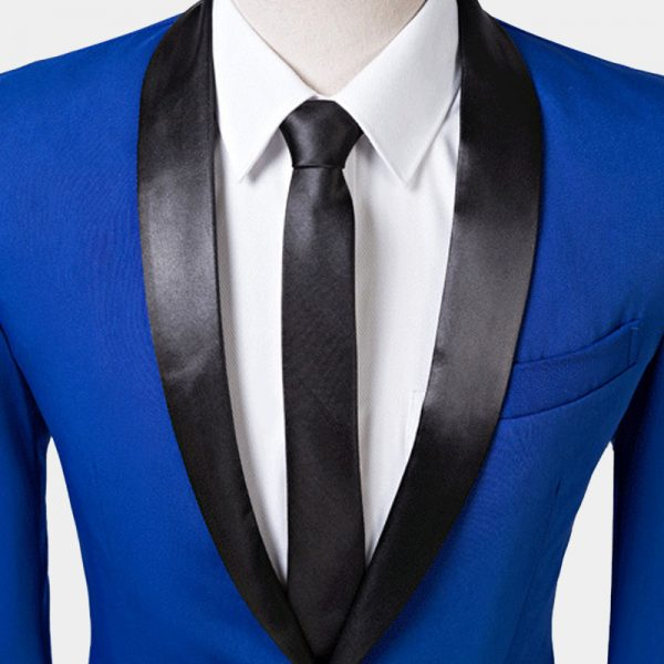 Black Shawl Collar Tuxedo Jacket Prom-Wedding Grooms Tuxedo Blazer from Gentlemansguru.com